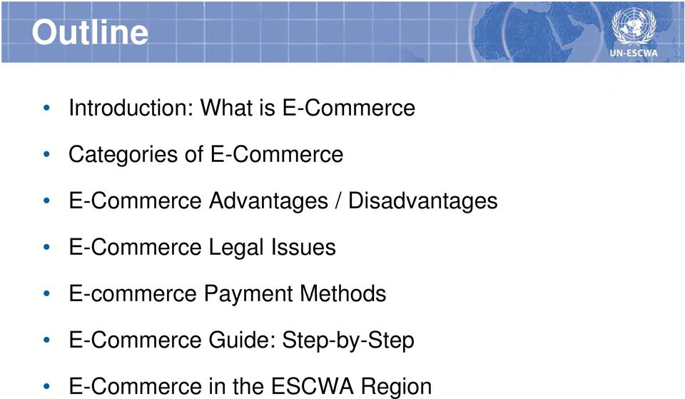 E-Commerce Legal Issues E-commerce Payment Methods