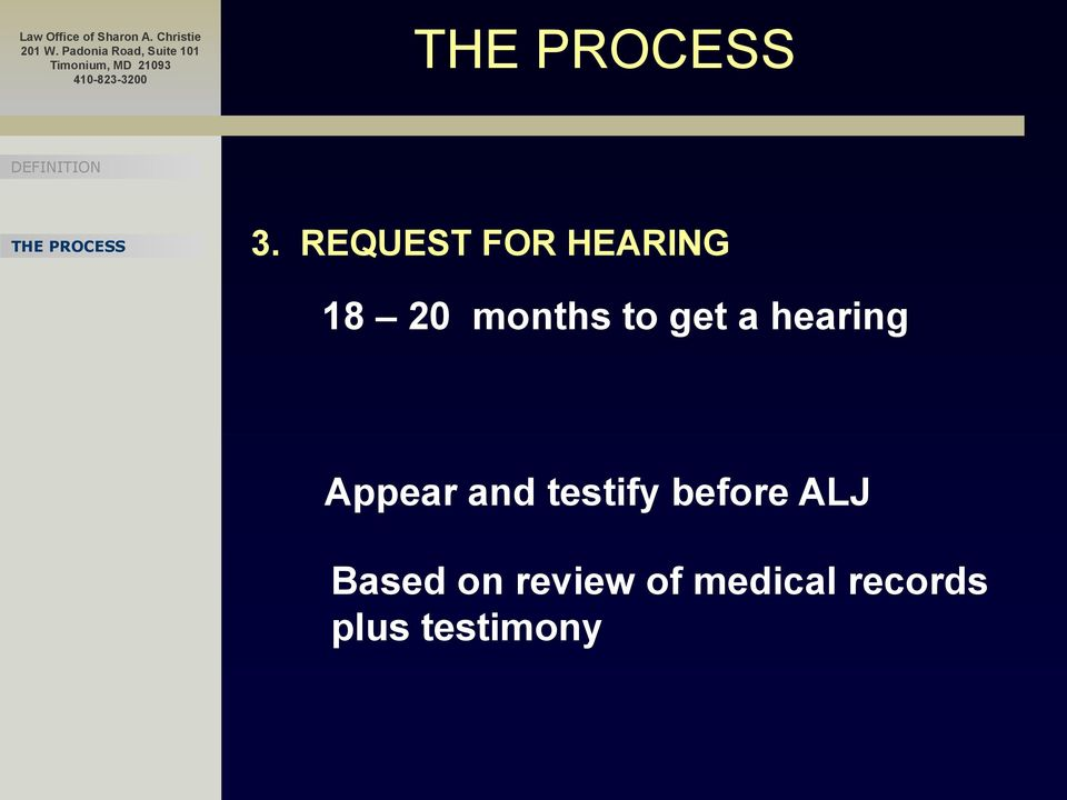 and testify before ALJ Based on