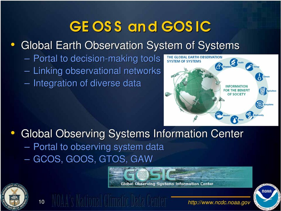 diverse data Global Observing Systems Information Center Portal to