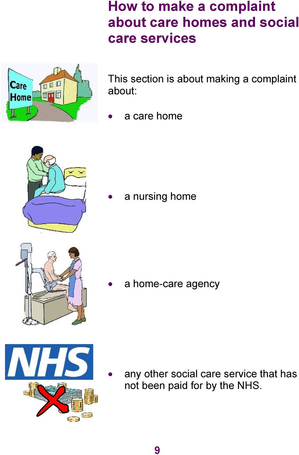 a care home a nursing home a home-care agency any other