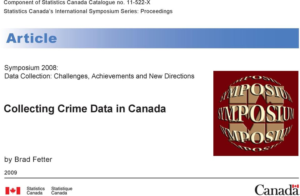 Proceedings Article Symposium 2008: Data Collection: