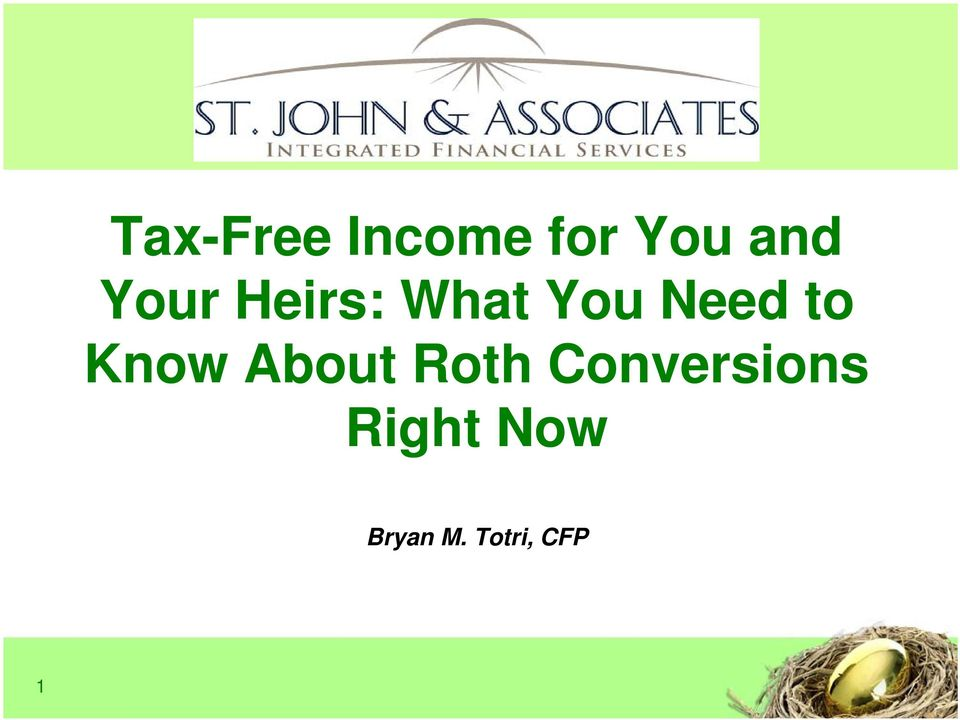 Know About Roth Conversions