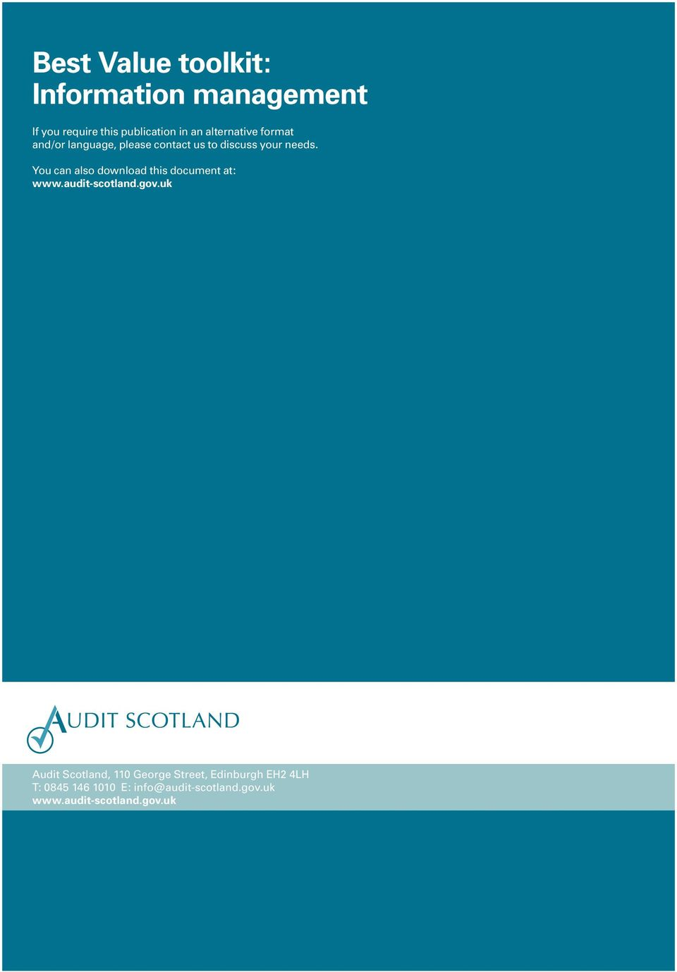 You can also download this document at: www.audit-scotland.gov.