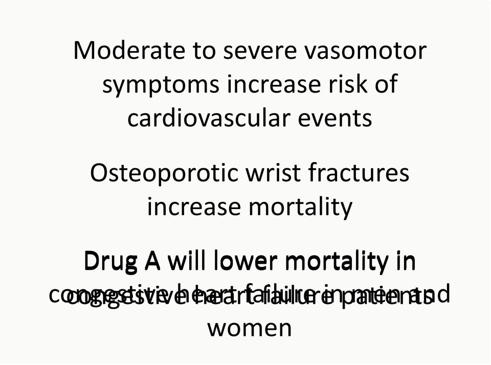 fractures increase mortality Drug A will lower