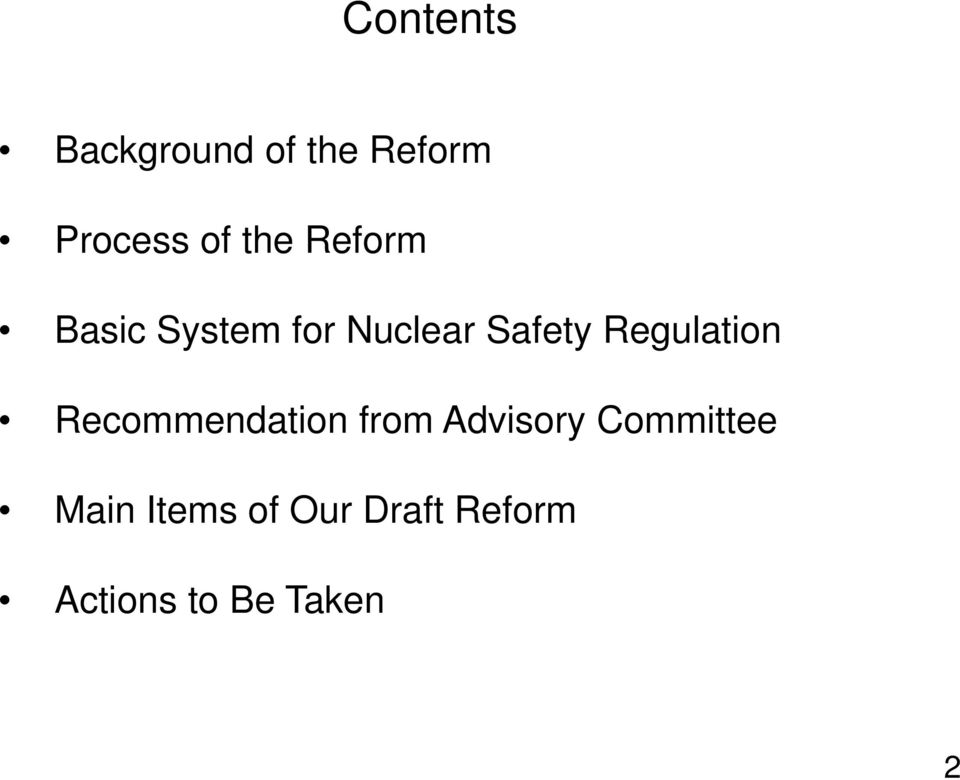Regulation Recommendation from Advisory