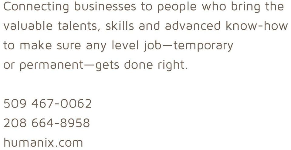 make sure any level job temporary or permanent