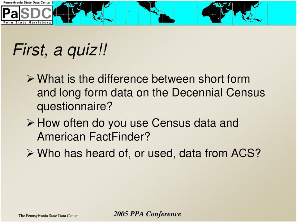 form data on the Decennial Census questionnaire?