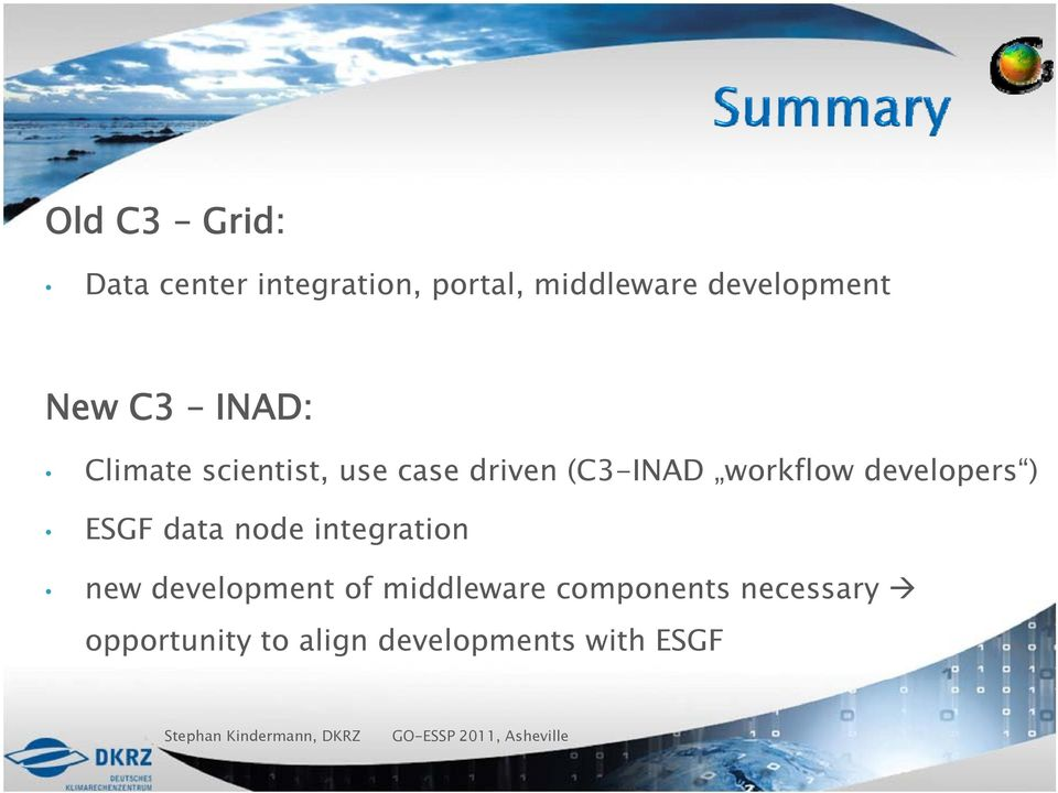 data node integration new development of middleware components necessary