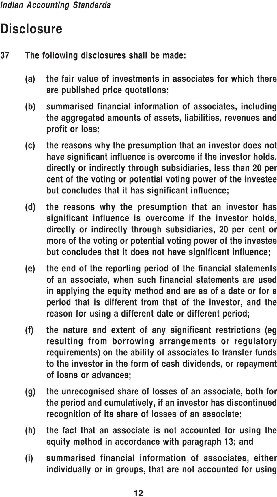 not have significant influence is overcome if the investor holds, directly or indirectly through subsidiaries, less than 20 per cent of the voting or potential voting power of the investee but