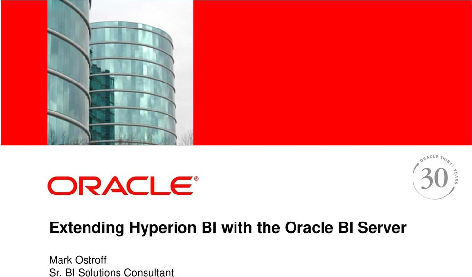 the Oracle BI Server Mark