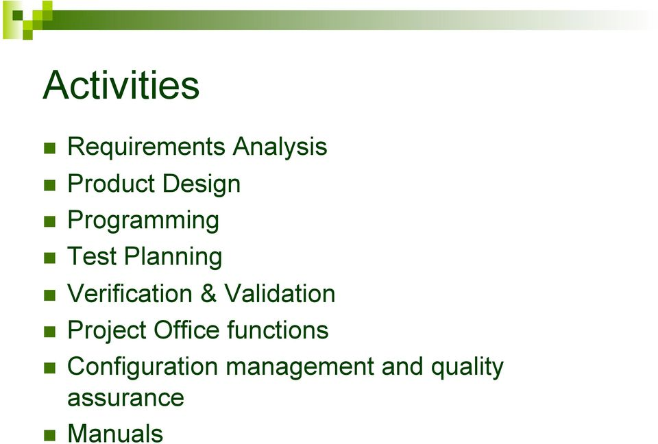 Verification & Validation Project Office