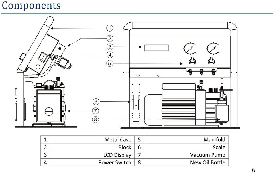 LCD Display 7 Vacuum Pump 4