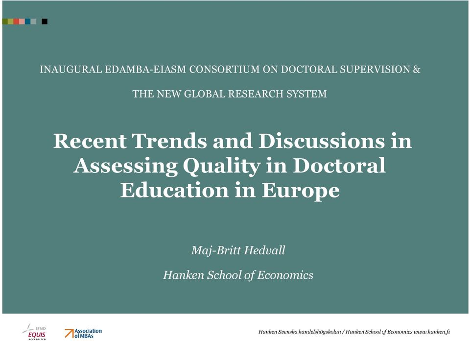 Trends and Discussions in Assessing Quality in