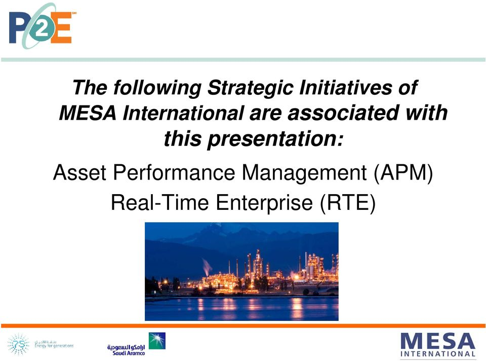 this presentation: Asset Performance