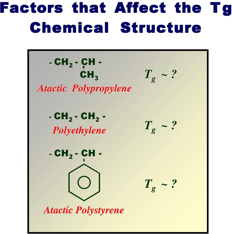 Glassy polymers and the nature of the glass transition  The