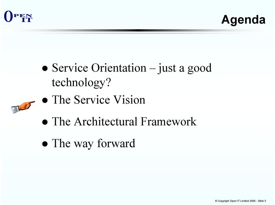 The Service Vision The Architectural