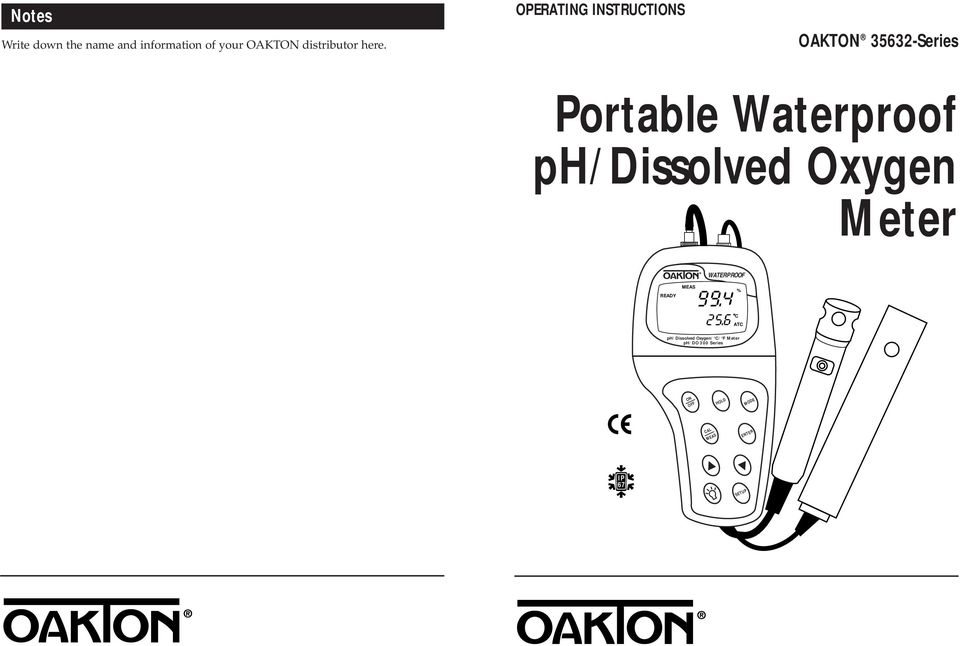 OPERTING INSTRUTIONS OKTON 35632-Series Portable Waterproof