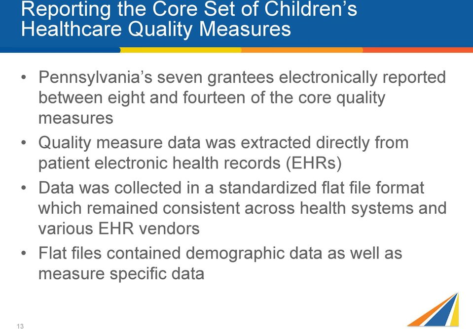 patient electronic health records (EHRs) Data was collected in a standardized flat file format which remained