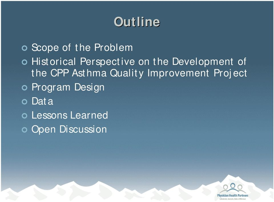 Asthma Quality Improvement Project