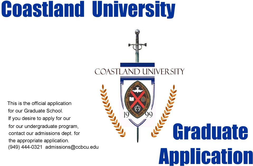 program, contact our admissions dept.