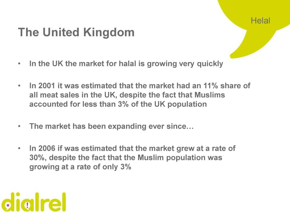 less than 3% of the UK population The market has been expanding ever since In 2006 if was estimated that