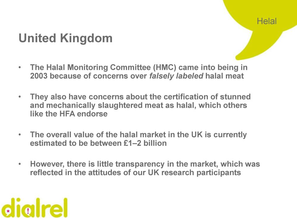 others like the HFA endorse The overall value of the halal market in the UK is currently estimated to be between 1 2