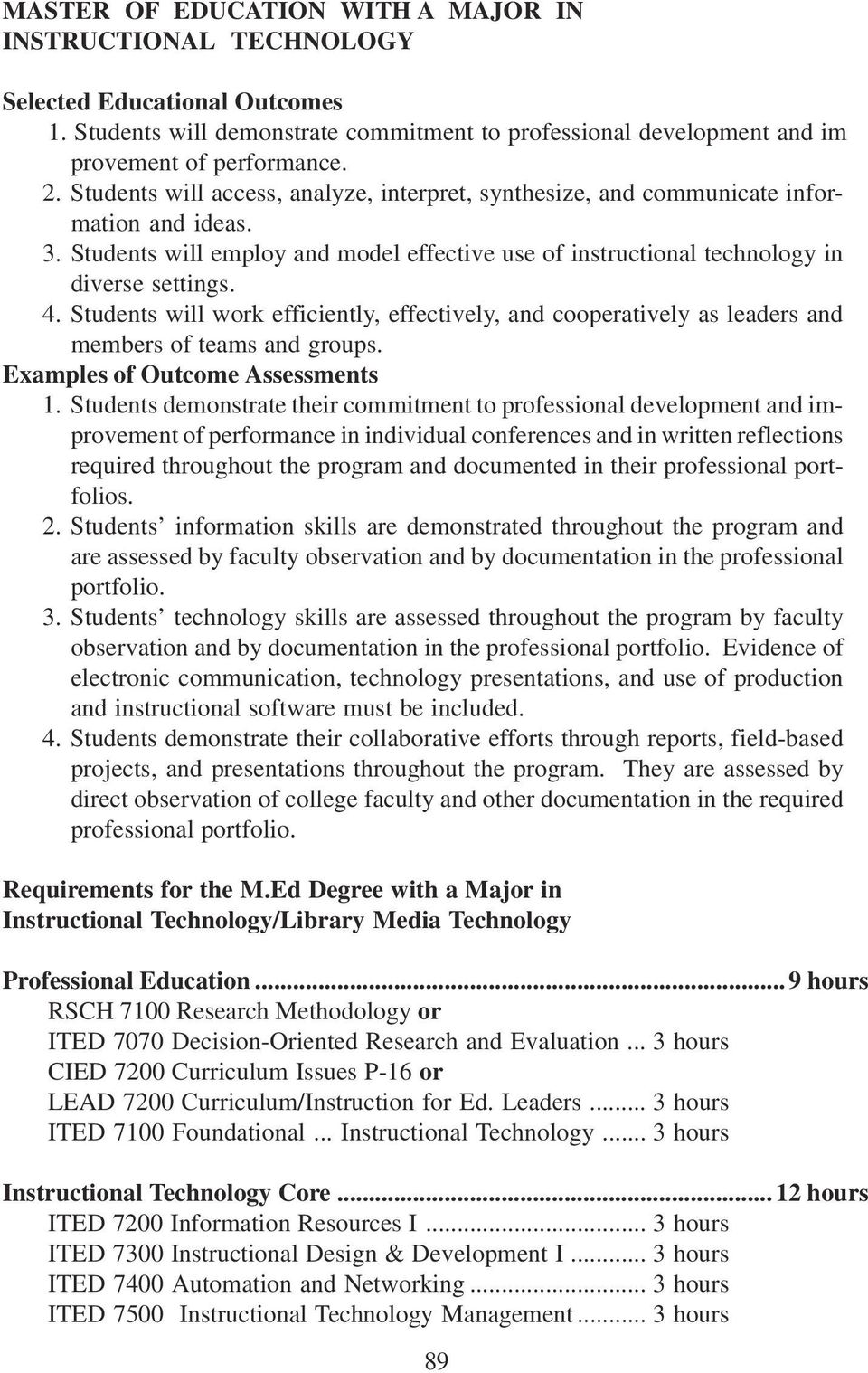 Department Of Secondary Education Curriculum And Instructional