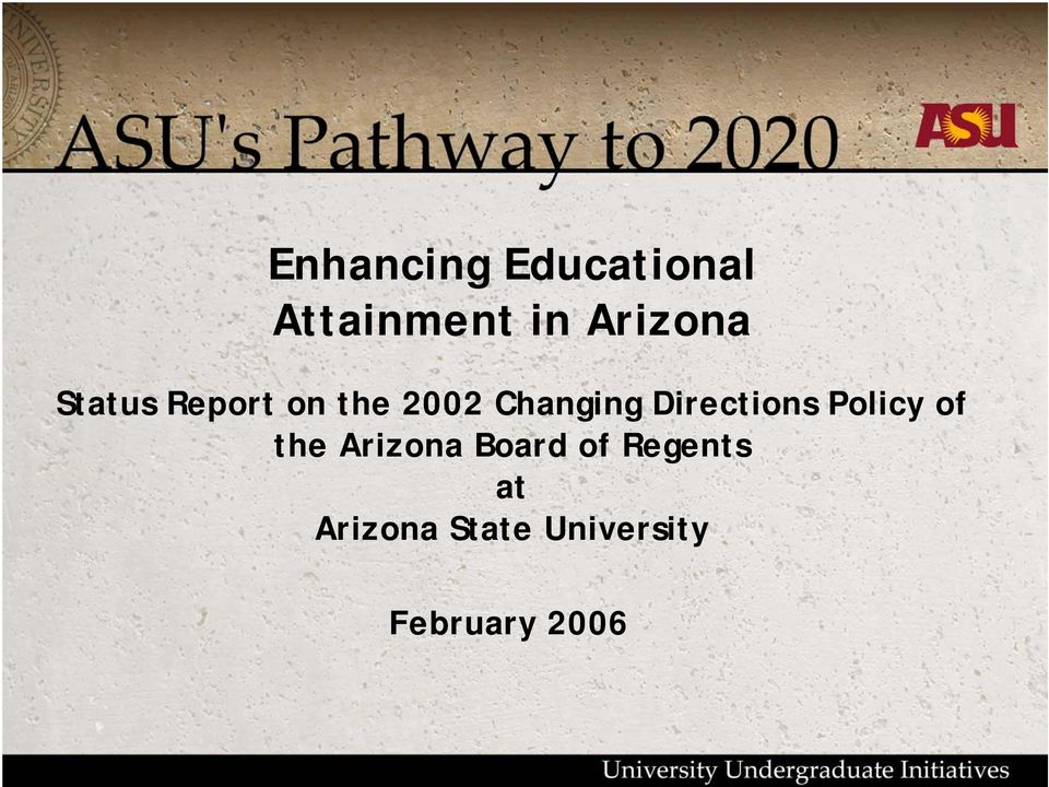 Directions Policy of the Arizona Board of