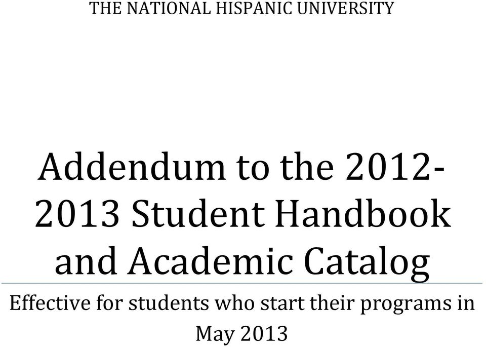 Handbook and Academic Catalog