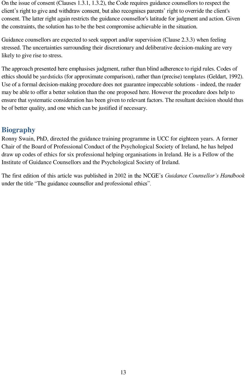 companion manual to the canadian code of ethics for psychologists