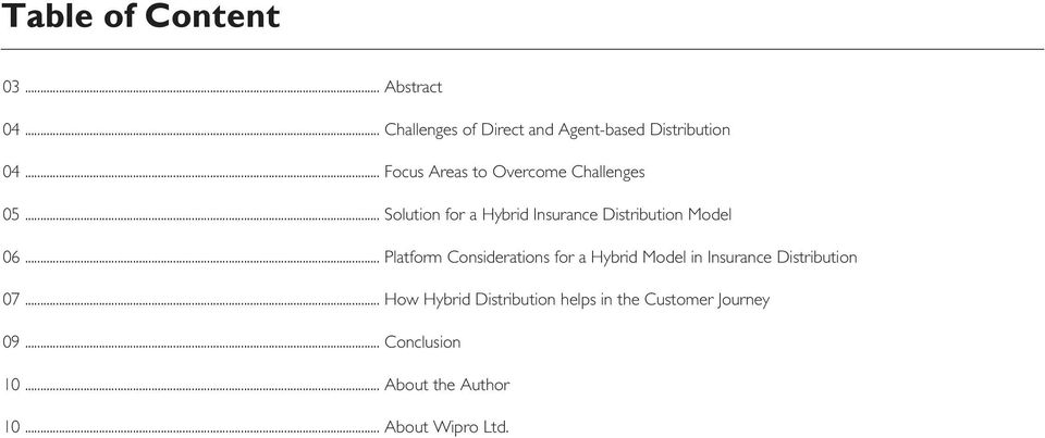 .. Platform Considerations for a Hybrid Model in Insurance Distribution 07.