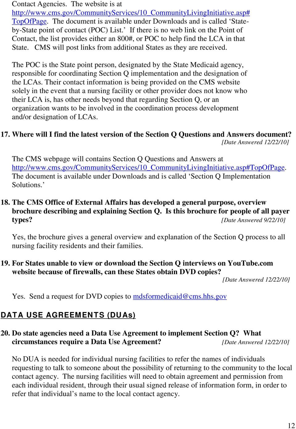 Mds 30 Section Q Implementation Questions And Answers Q As From