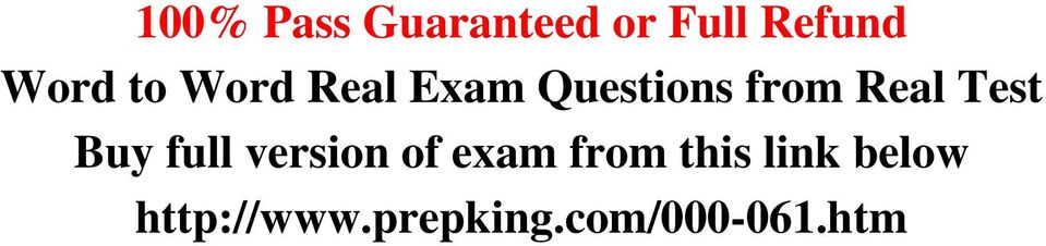 Test Buy full version of exam from this