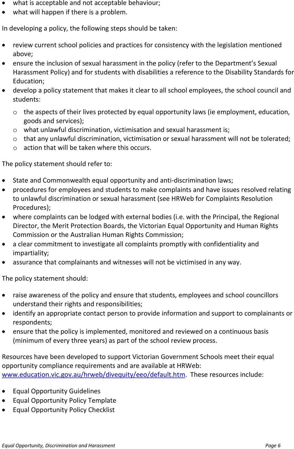 equal opportunities policy statement template best business template equal opportunity discrimination and harassment pdf