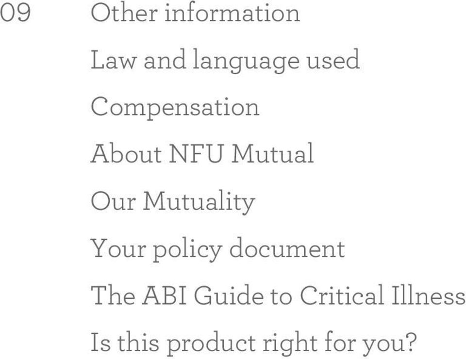 Mutuality Your policy document The ABI