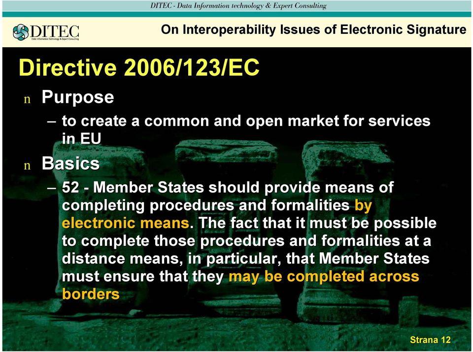 formalities by electroic meas.