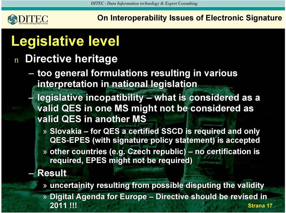 certified SSCD is required ad oly QES-EPES EPES (with siga