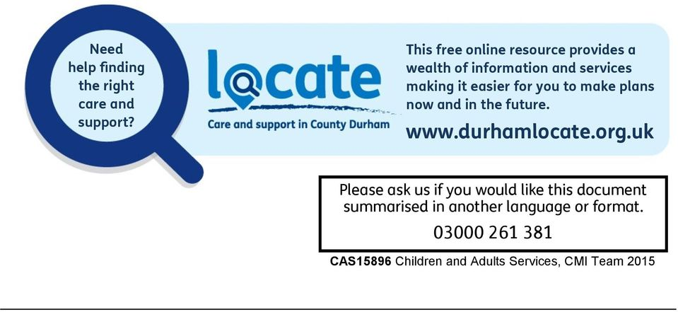for you to make plans now and in the future. www.durhamlocate.org.