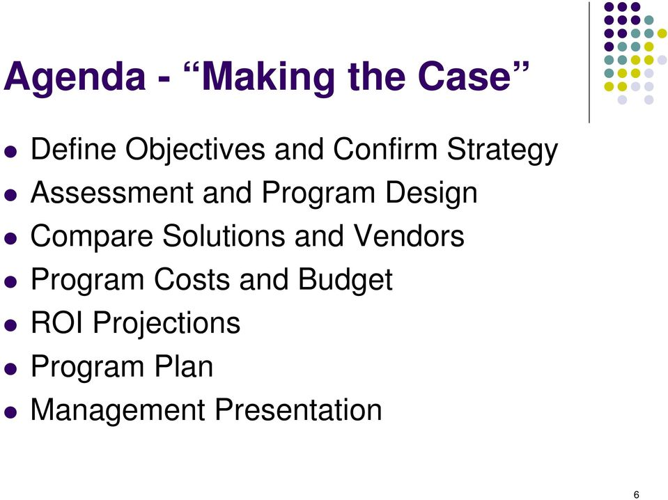 Compare Solutions and Vendors Program Costs and