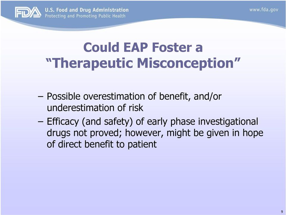 Efficacy (and safety) of early phase investigational drugs