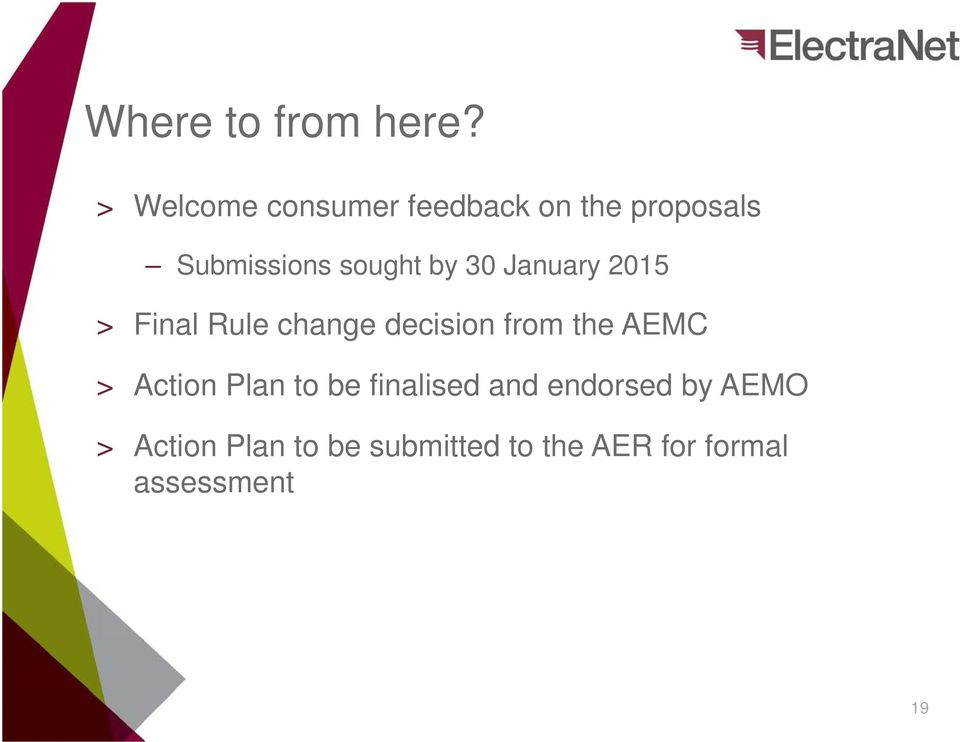 by 30 January 2015 > Final Rule change decision from the AEMC >