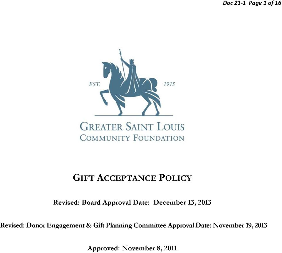 Revised: Donor Engagement & Gift Planning
