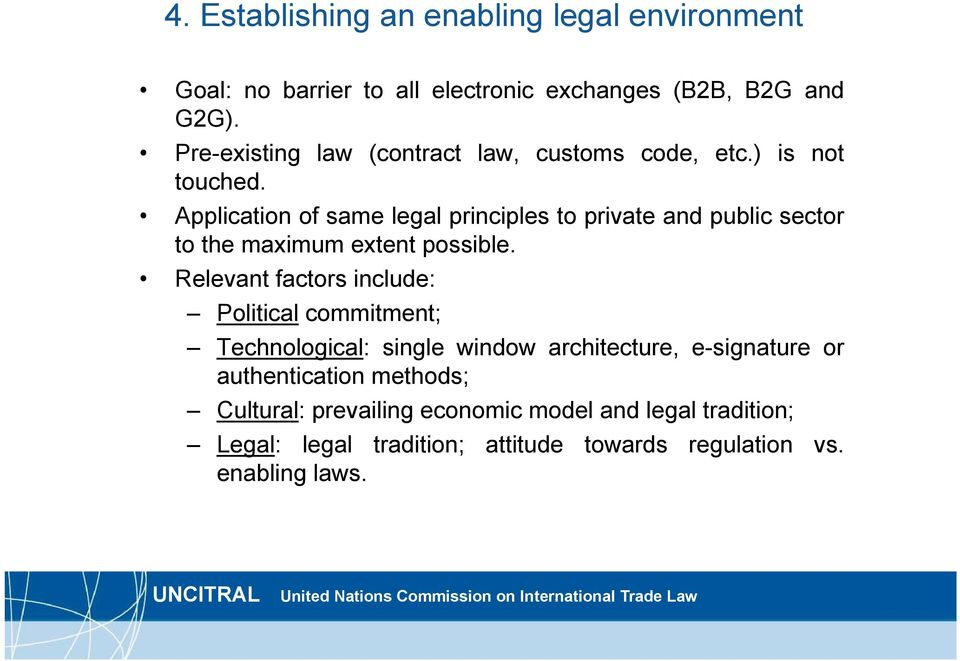 Application of same legal principles to private and public sector to the maximum extent possible.