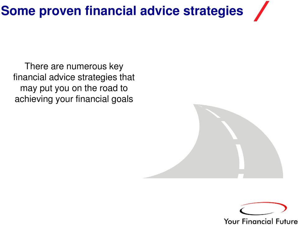 financial advice strategies that may
