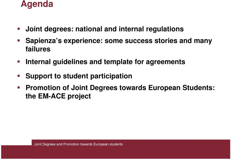 guidelines and template for agreements Support to student