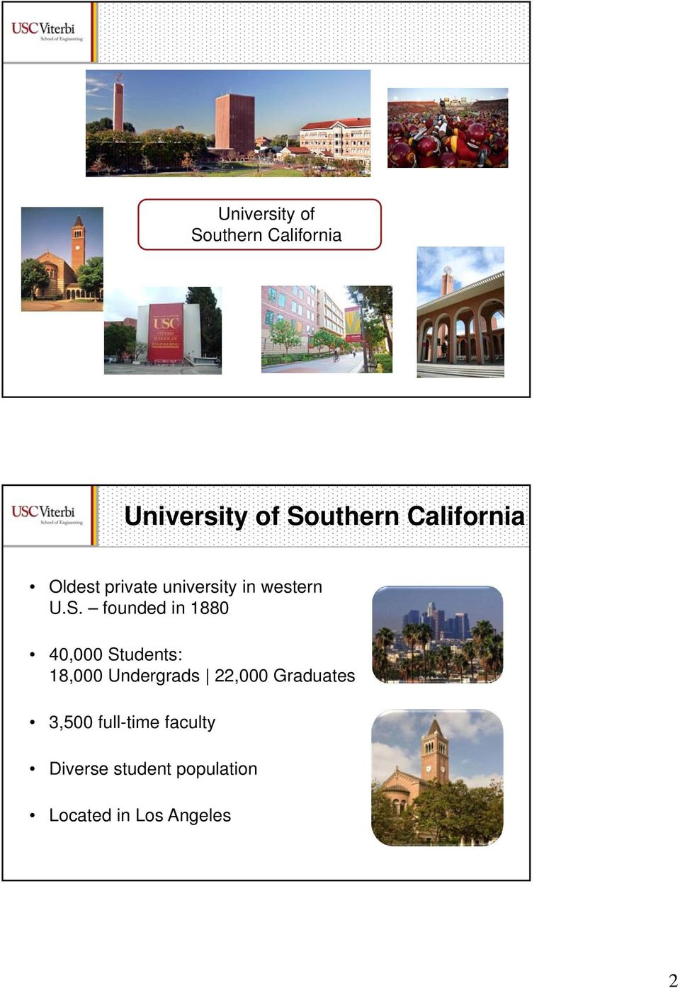 founded in 1880 40,000 Students: 18,000 Undergrads 22,000