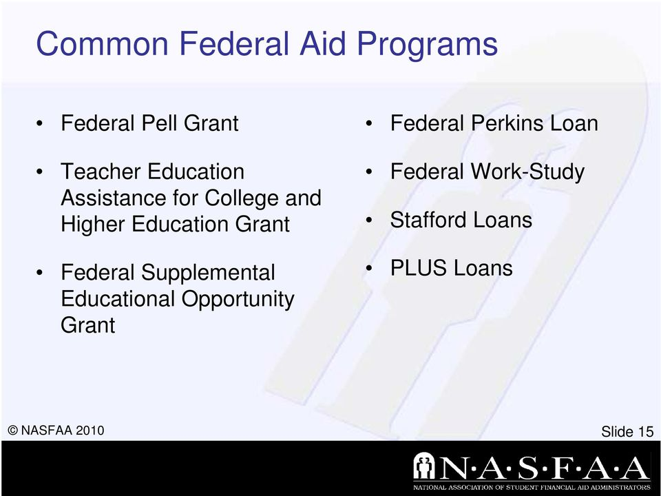 Federal Supplemental Educational Opportunity Grant Federal