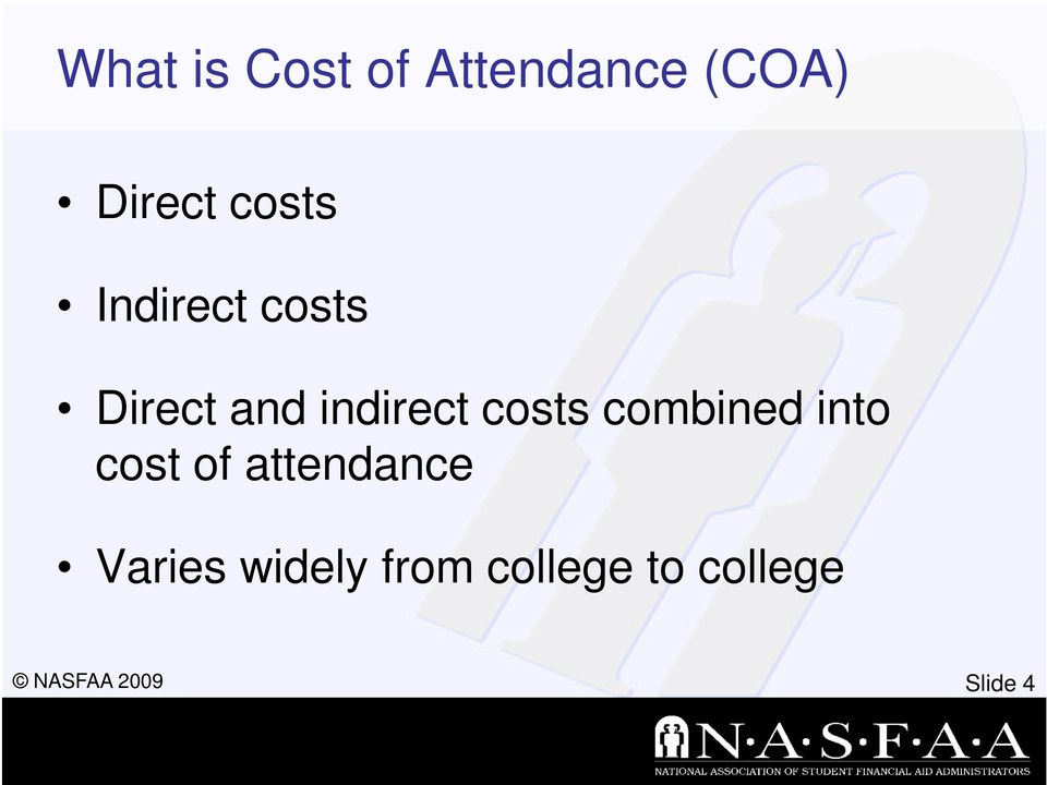 costs combined into cost of attendance