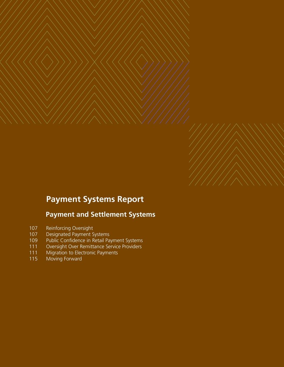 Public Confidence in Retail Payment Systems Oversight Over