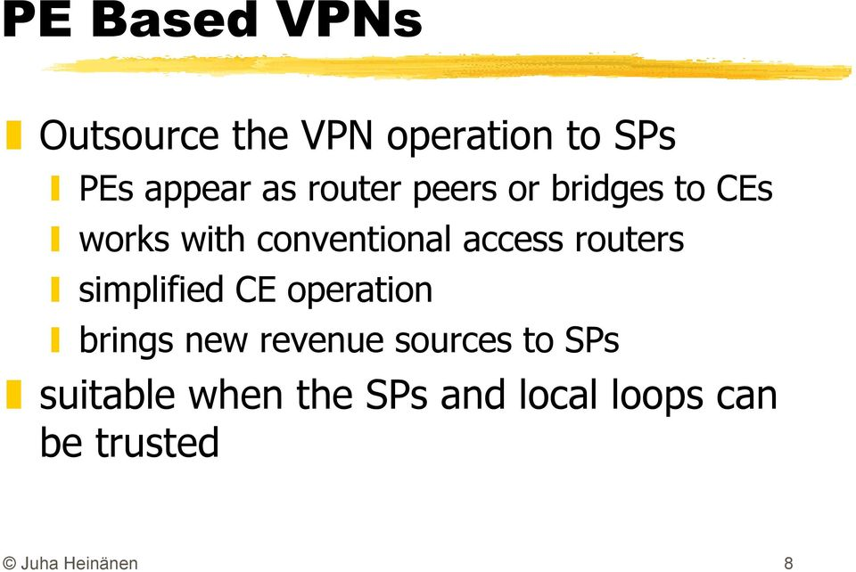 routers simplified CE operation brings new revenue sources to